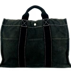 AUTHENTIC HERMES FOOL TOE MM TOTE BAG CANVAS